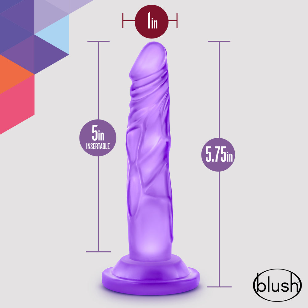 Naturally Yours - 5 Inch Mini Cock - Purple