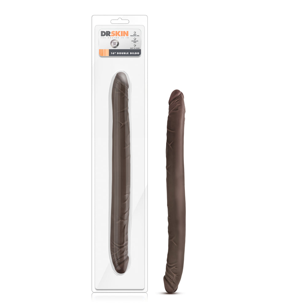 Dr. Skin - 16 Inch Double Dildo - Chocolate