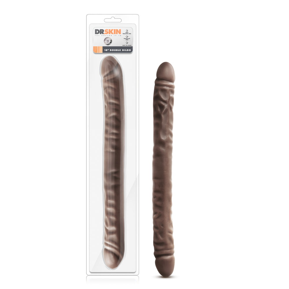 Dr. Skin - 18 Inch Double Dildo - Chocolate
