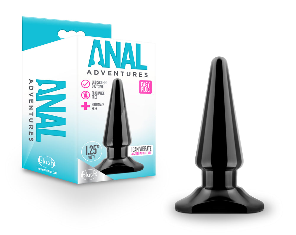 Anal Adventures - Easy Plug - Black