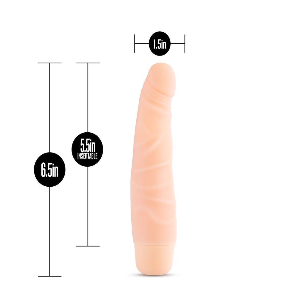 Silicone Willy's - Slim - 6.5 Inch Vibrating Dildo - Vanilla