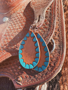 Coyote Leather Earrings