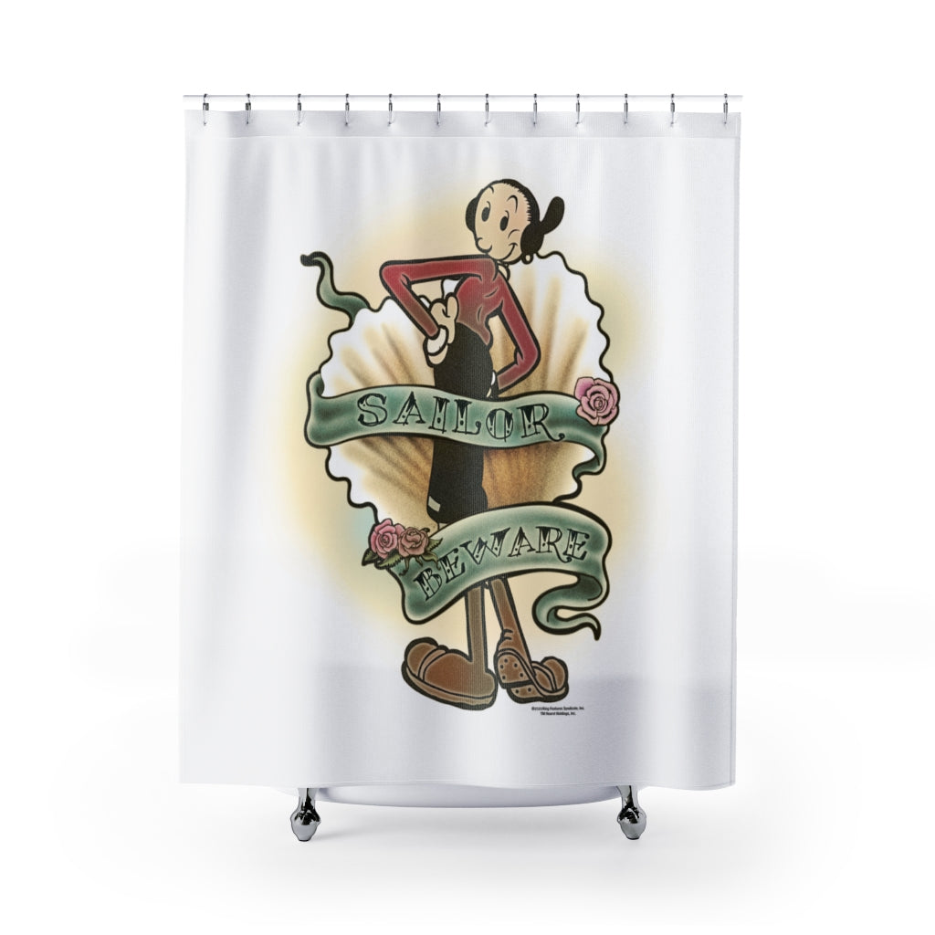 Olive Oyl Shower Curtains