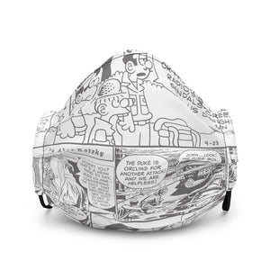 Comics Strip Premium face mask