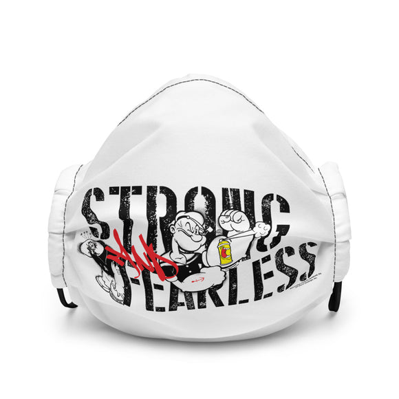 Popeye Strong and Fearless Premium face mask