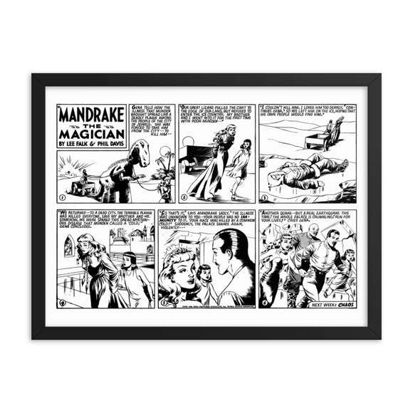 Mandrake the Magician Framed Poster