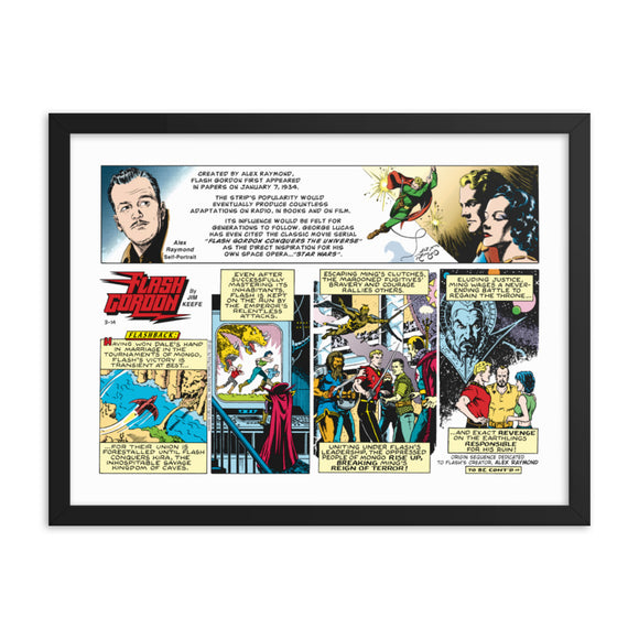 Flash Gordon Framed Poster