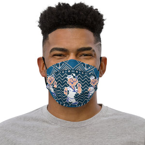 Popeye Ugly Sweater Pattern Premium face mask