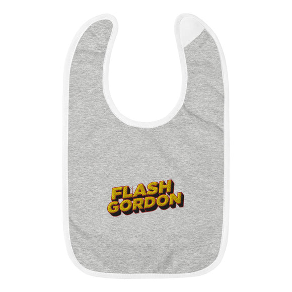 Flash Gordon Embroidered Baby Bib