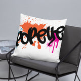 Popeye NYC Throw Pillow