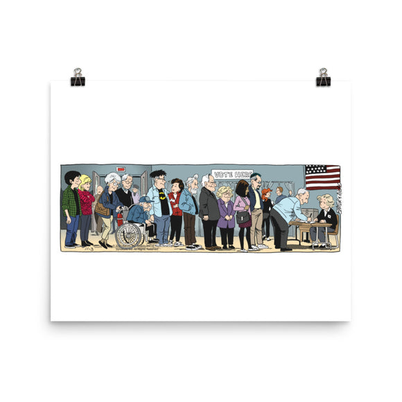 Funky Winkerbean Photo paper poster