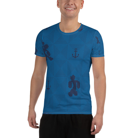 Popeye All-Over Print Men's Athletic T-shirt