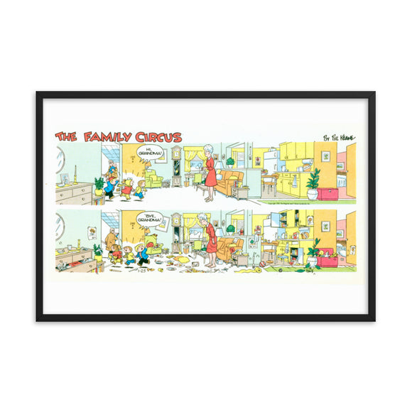 Family Circus Framed poster