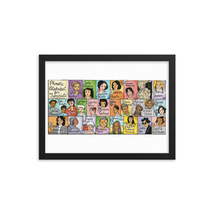 Six Chics Framed poster