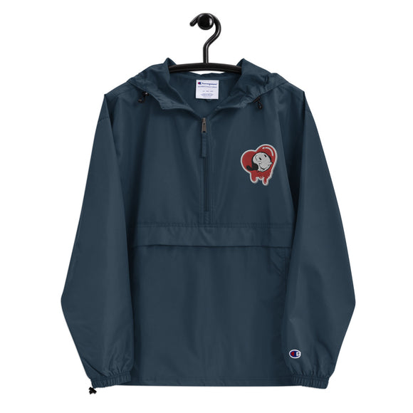 Olive Oyl Embroidered Champion Packable Jacket