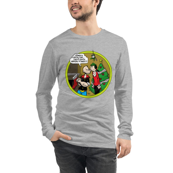 Popeye Spinach Mistletoe Long Sleeve Tee