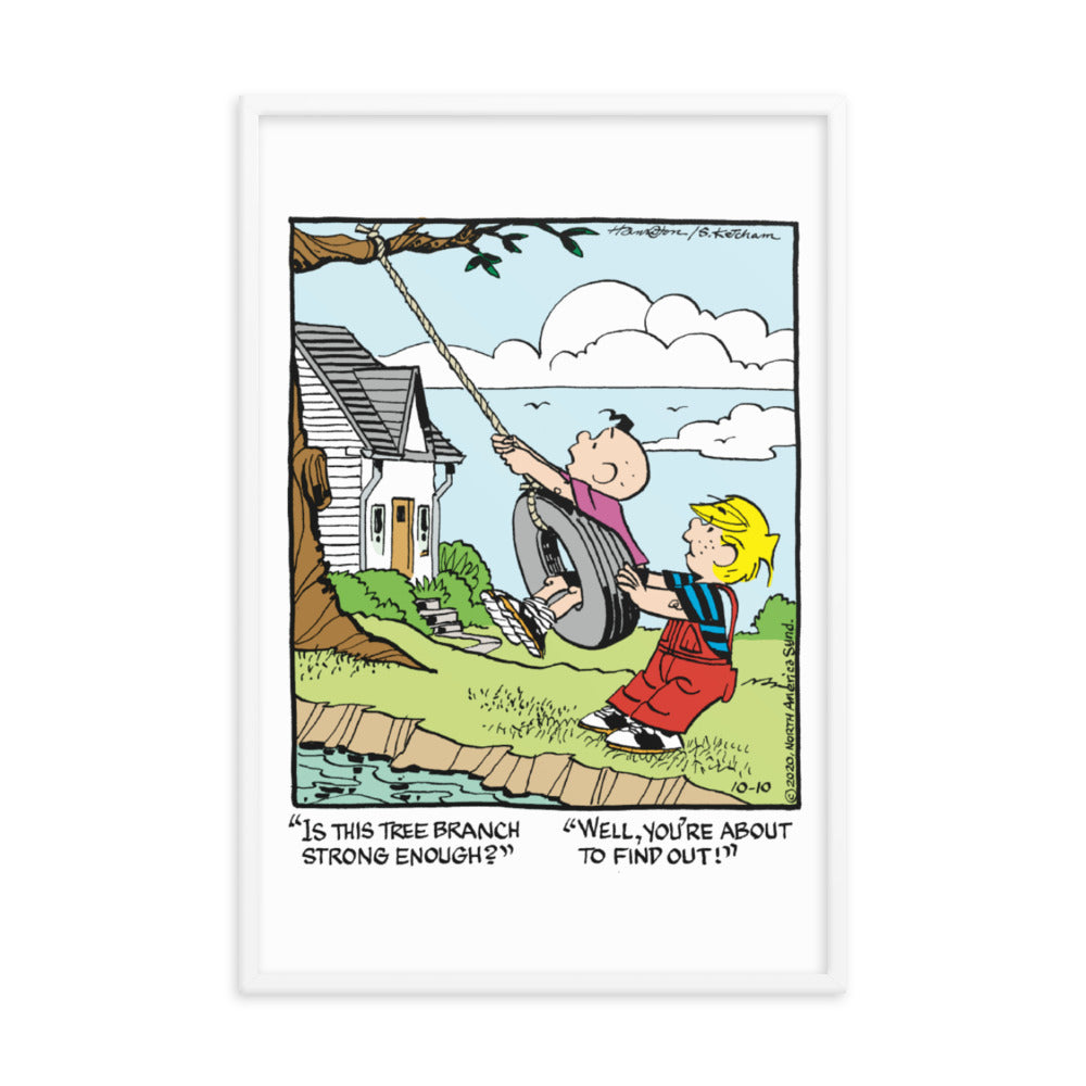 Dennis The Menace Framed poster