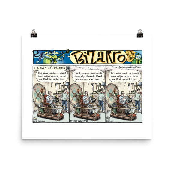 Bizarro Photo paper poster