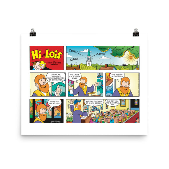Hi and Lois Photo Paper Poster