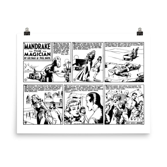 Mandrake the Magician Photo Paper Poster