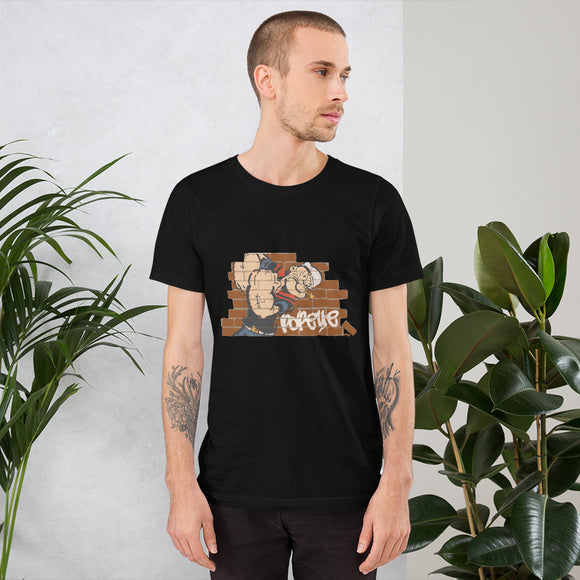 Popeye Brick wall - Short-Sleeve Unisex T-Shirt