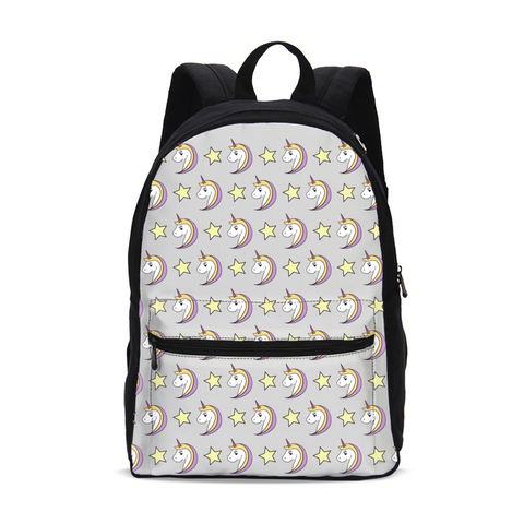 I Love Unicorns Small Canvas Backpack