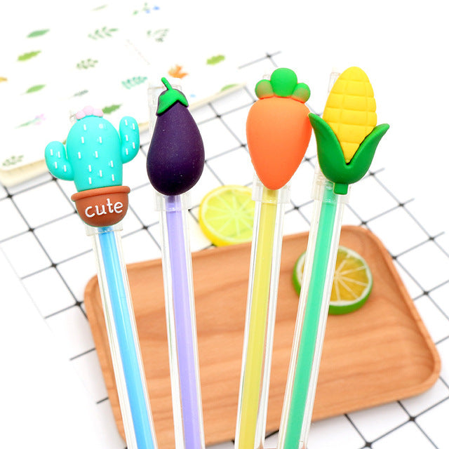 Eggplant, Cactus, Carrot and Corn pencil toppers 🍆  🌽  🥕  🌵