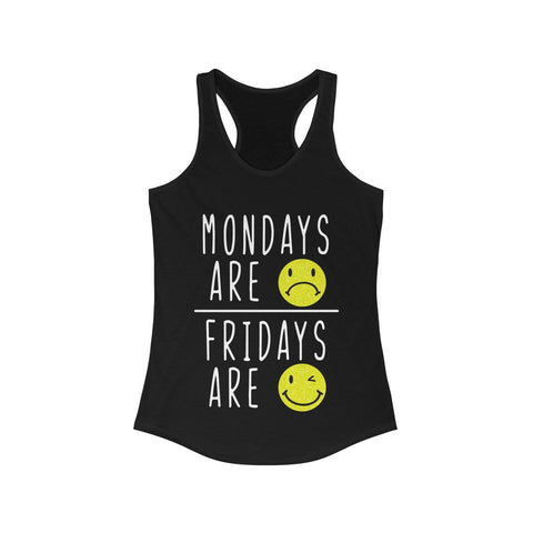 Fridays Are Happy 🙂  Racerback Tank Top