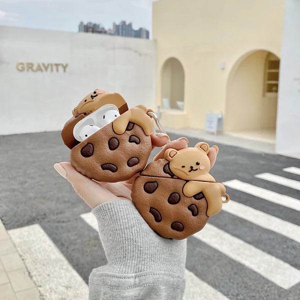 Cookie + Bear AirPods  Headphone Case 🍪  🐻