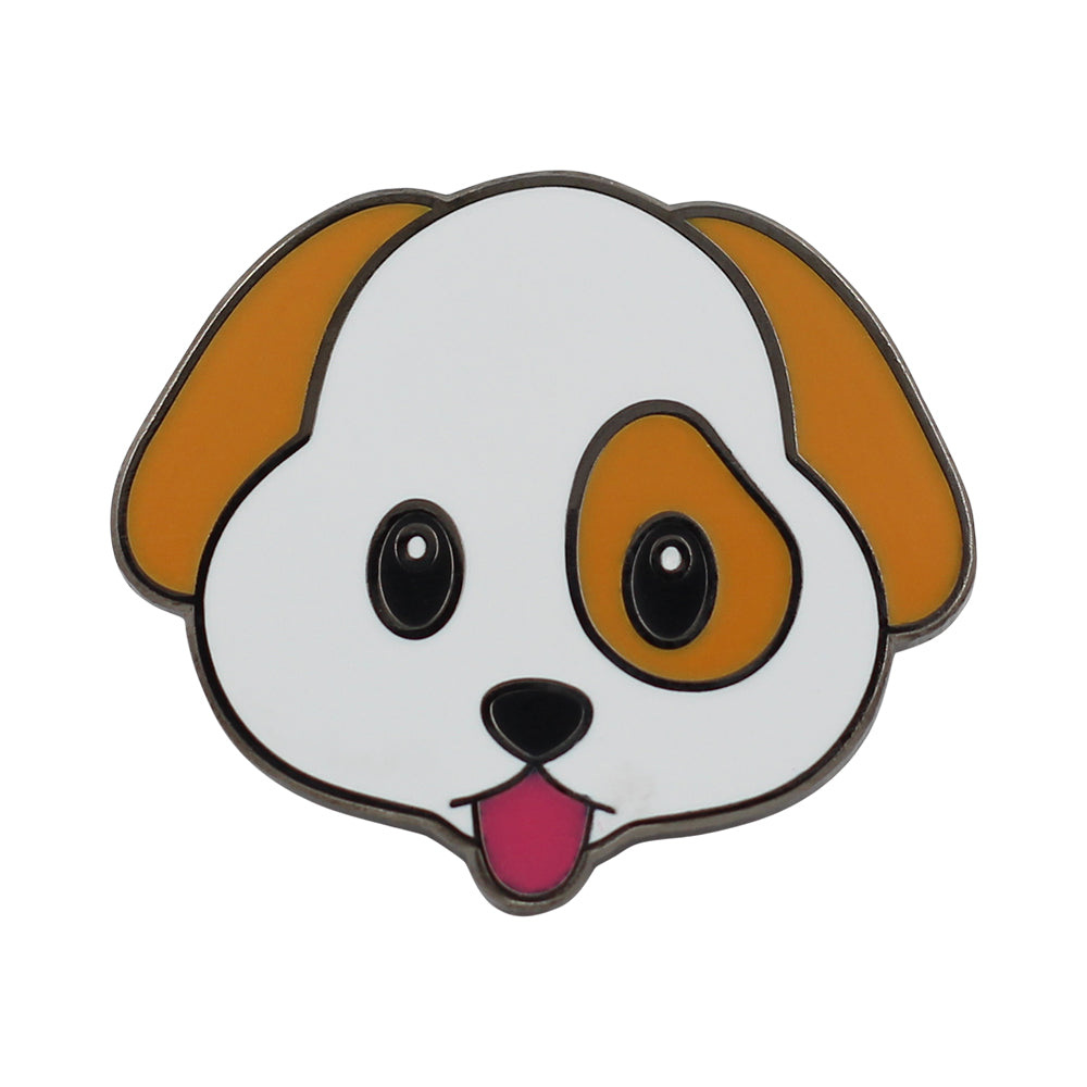 Cute Puppy Emoji – Enamel Pin for your Life 🐶
