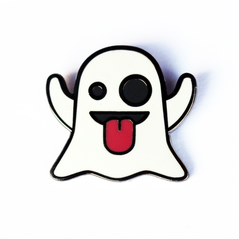 Ghost Emoji Pin – Enamel Pin for your Life 👻