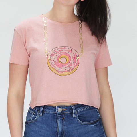 Donut Necklace Tee 🍩  💎