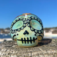 Sugar Skull Pipe (B) by Dina K - Functional Glass