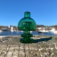 Green Concave Bubble Cap by Mr. B Glass - Functional Glass