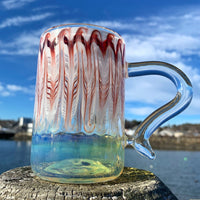 Red & White Mug by Ed Wolfe - Functional Glass