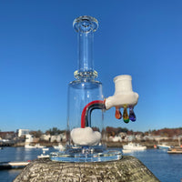 10mm Up In The Clouds Rig + 2 Rainbow Terp Pearls (B) by Samson Glass - Functional Glass