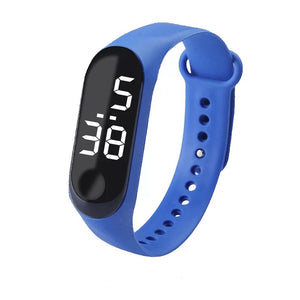 Led Digital Watch luxury Blue