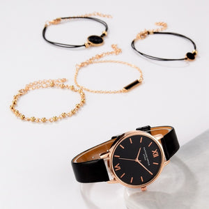 Top Style Fashion Women's Luxury Leather Band Analog