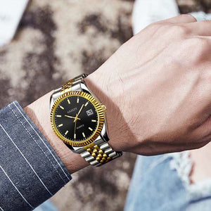 Men watch Brand Business Gold Diamond