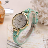 Women Casual Watches Round Dial Rivet PU Leather Strap