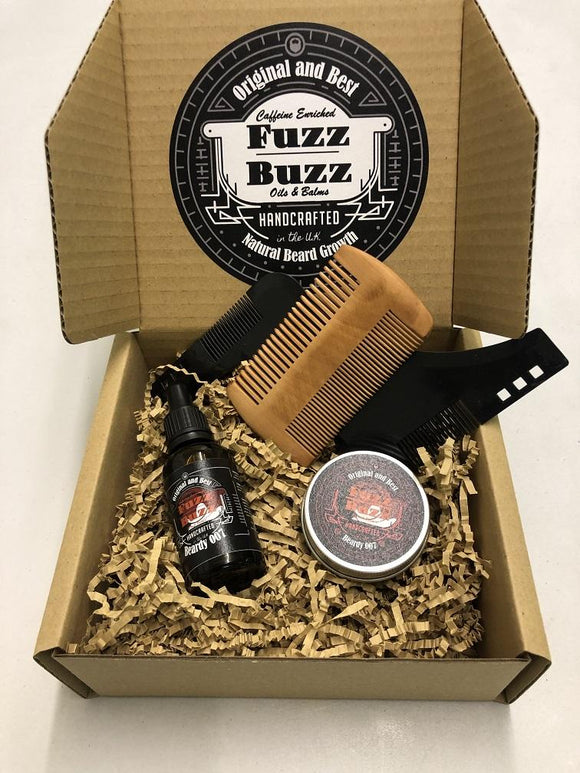 Premium beard oil and balm | Men's beard care gift sets Fuzz Buzz Beard care