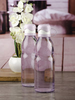 Glass Bottle with Flip Top Cap in Purple Colour for Water, Juice (Set of 2 pcs) 2272-PURPLE