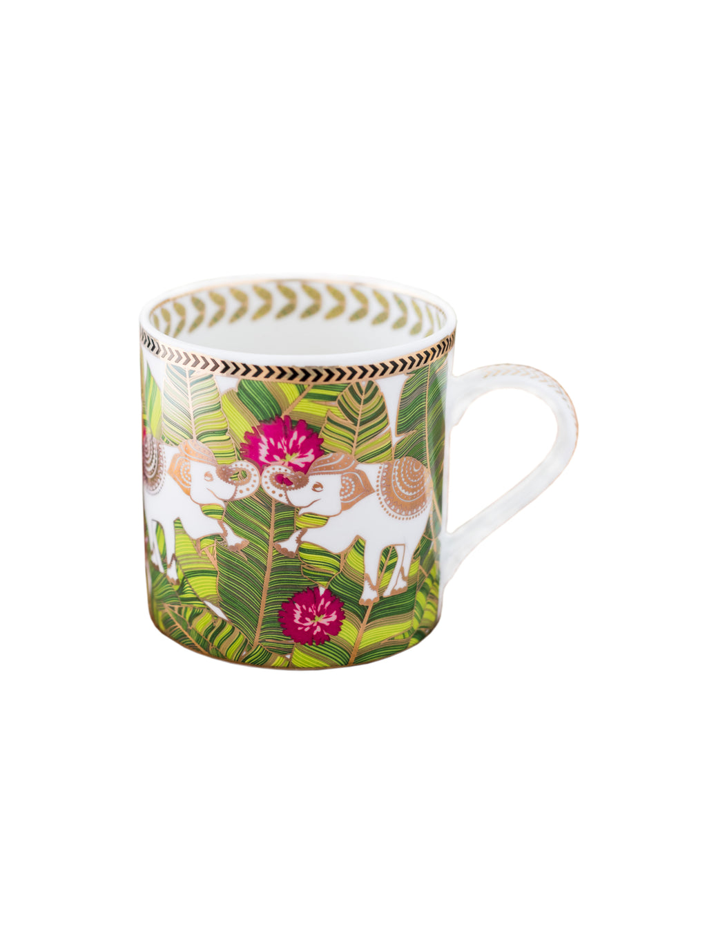Bone China Mug Set with Real Gold Print (Set of 2 pcs). (Made in India) ZOE2MM914