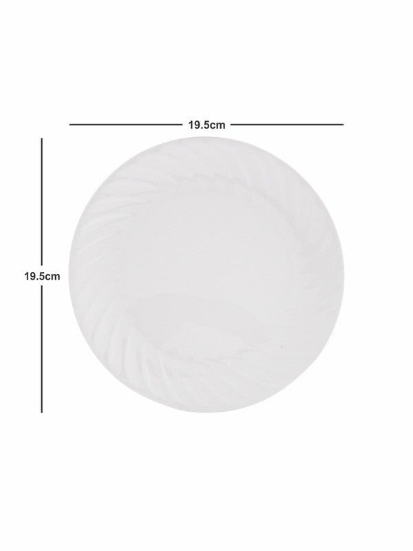 Bone China Full & Quarter Plate with Veg Bowl Set (Set of 12pcs) BCFP-QP-VB-12P