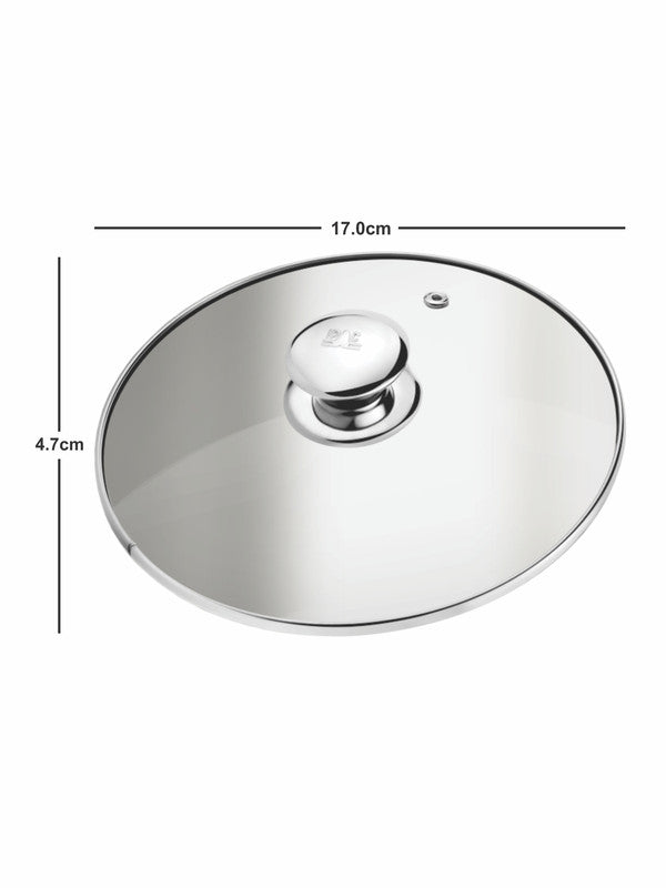 Stainless Steel Elegance Sauce Pan with Handle & Glass Lid (Set of 2pcs) CWSS18SP01