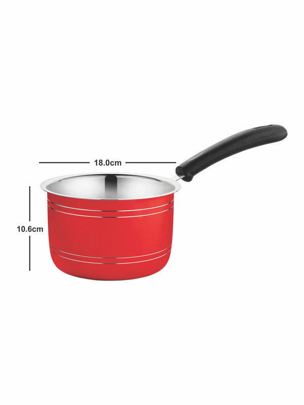 GOODHOMES Stainless Steel Paradise Sauce Pan with Handle  CWSS18SP03