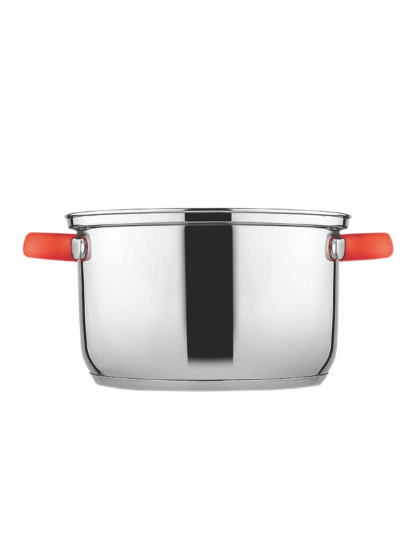 GOODHOMES Stainless Steel Elegance Deep Casserole with Handle & Glass Lid (Set of 2pcs) CWSS22DC01