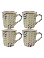 GOODHOMES Designer Stoneware Tea Cups/Coffee Mugs (Set of 4 pcs)-DDSWMM-11