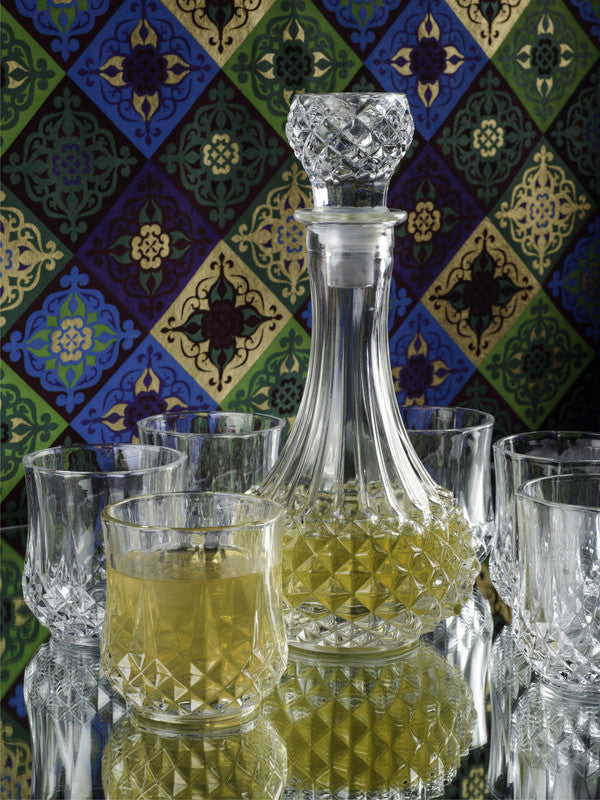 Glass Decanter Set with Tumblers (Set of 7 pcs) DEV-7172