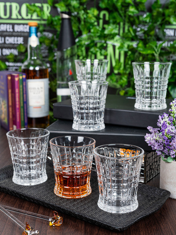 GOODHOMES Glass Whisky Tumbler (Set of 6pcs) DM315